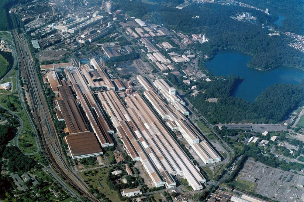 Vista área da Usina Ipatinga
